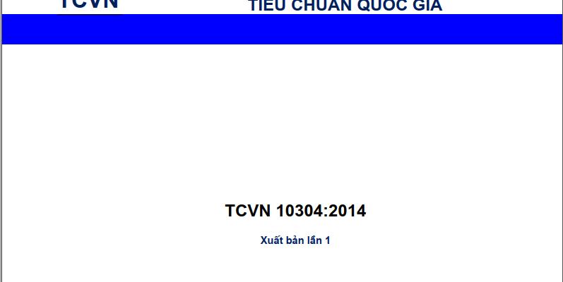 TCVN 10304 - 2014