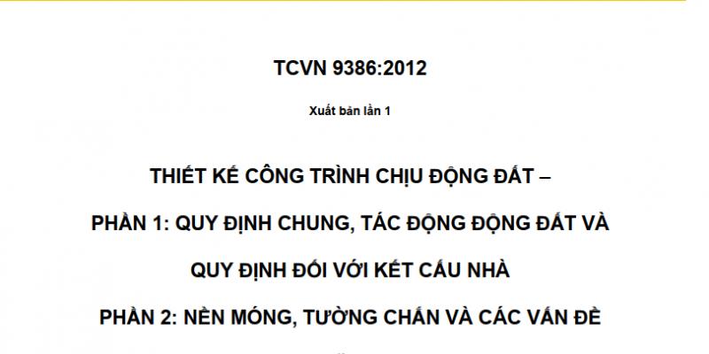 TCVN 9386 - 2012