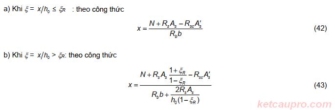 Kiểm tra khả năng chịu lực của cột theo nội lực giới hạn TCVN 5574:2018