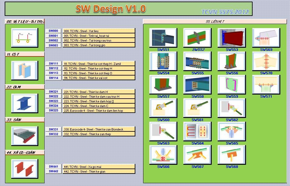 Phần mềm tính toán kết cấu thép nhà công nghiệp
